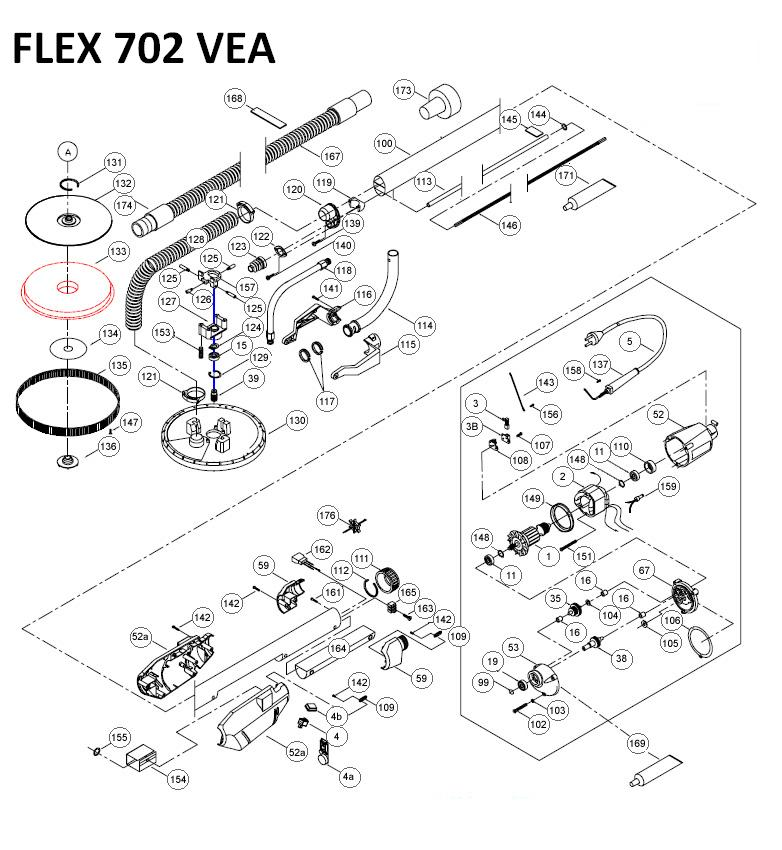 Flex 702 Vea Parts Diagram